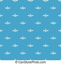 Building service pattern vector seamless blue