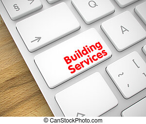 Building Services on the Keyboard Keypad. 3D.