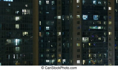 building similar to anthills at night zoom out time lapse