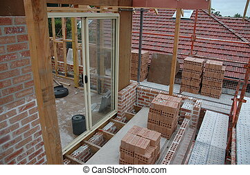 building site - a house under construction