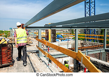 Building site - Construction of a modern building or a...