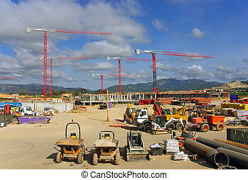 Building Site - Construction site to build a new hospital in...