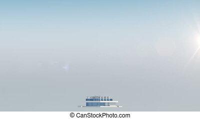 Building Skyscraper in Time-lapse. Sun is Rising....