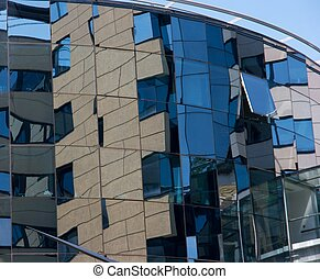 Building - Detail of a modern glass office building