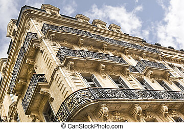 Building - Stylish old building in the city of Bordeaux,...