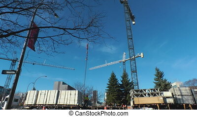 Building Supplies - Gantry Crane On A Construction Site