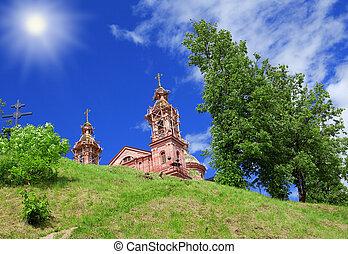 Building svyato-uspenskaya church in Vitebsk
