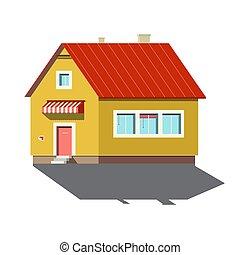 Building Symbol. Family House Icon Isolated on White Background.