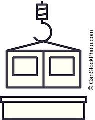 Building technologies line icon concept. Building technologies vector linear illustration, symbol, sign