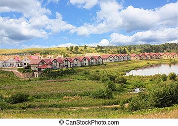 building the cottage village