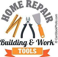 Building tools badge for repair service design