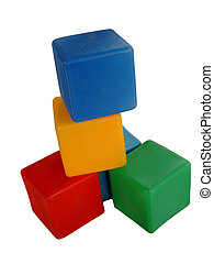 Building toys - Colored building blocks