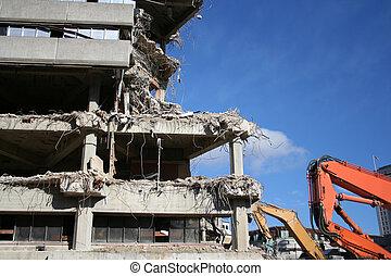 building under demolition