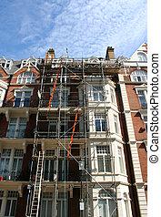 building under renovation