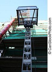 Building under renovations