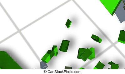 Building up a housing estate animat