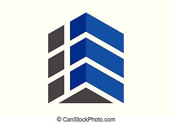building up arrow logo