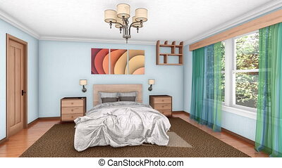 Building up bedroom interior 3d animation - Building up of...