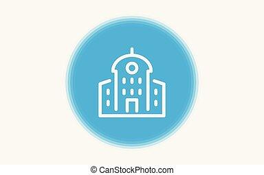 Building vector icon sign symbol