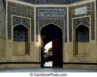 Building Wall in Uzbekistan.
