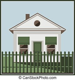 Building white home icon