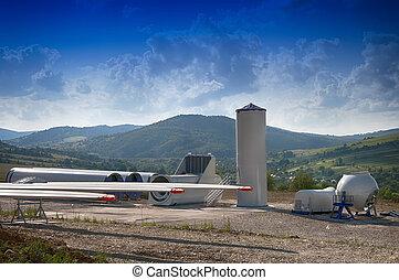 building wind turbines