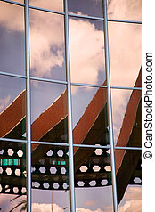 Building windows with reflections