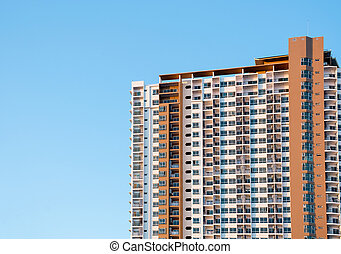 Building with blue sky background