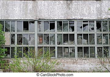 Building with broken windows