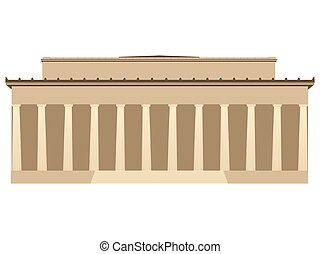 Building with columns. Vector