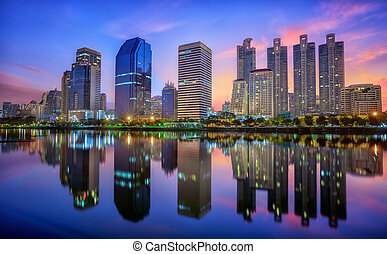 Building with Reflection in Bangkok