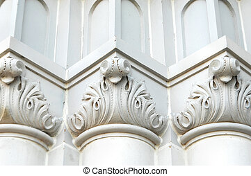 Building with Romanesque patterns - Details of church ...