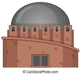 Building with round roof illustration