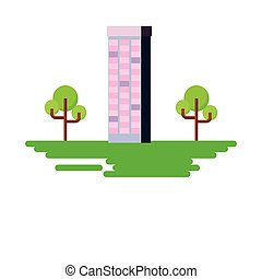 building with trees in the landscape