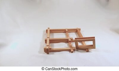 building wooden toy house