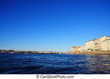 Buildings alongside Neva river - Bbuildings alongside Neva ...