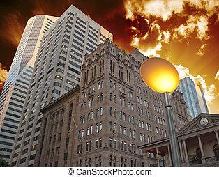 Buildings and Sky Colors of Brisbane, Australia