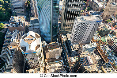 Buildings and skyline of Sydney, New South Wales.