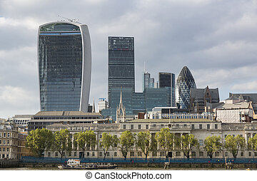 City of London - Buildings and skyscraper of the City of...
