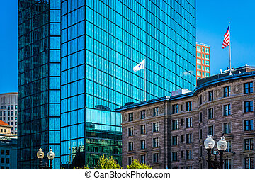 Buildings at Copley Square, in Boston, Massachusetts.