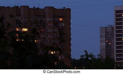 Buildings at night 1