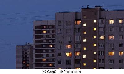 Buildings at night 2