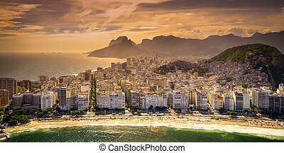 Copacabana Beach - Buildings at the waterfront, Copacabana...