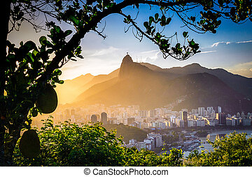 Christ The Redeemer - Buildings at the waterfront with...