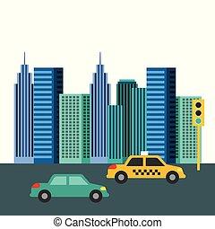 buildings city skyline image