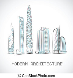 Buildings collection of modern skyscrapers