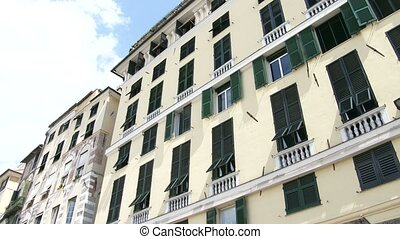 Buildings facing the port in Genoa