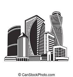buildings high-rise, cityscape