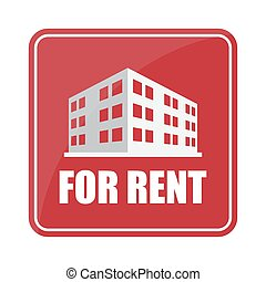 Buildings icon and office Sell, rent icon sign
