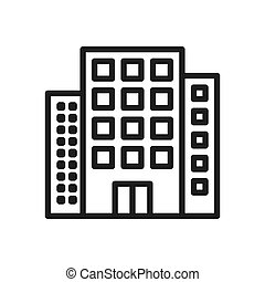 Buildings icon vector. Simple buildings sign in modern design style for web site and mobile app. EPS10